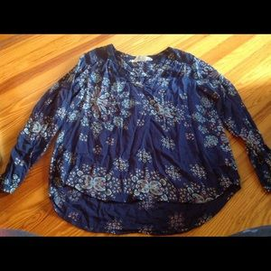 H&M women's floral printed blouse size 14